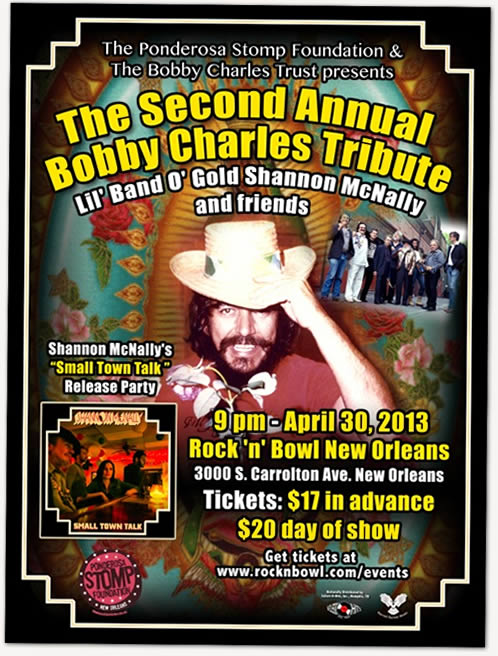 Bobby Charles Tribute - Flyer