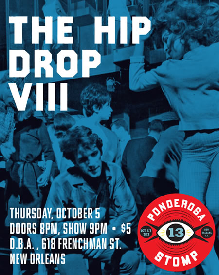 The Hip Hop Drop VIII Thursday, October 5 Doors 8pm Show 9pm • $5 D.B.A., 618 Frenchman St. New Orleans