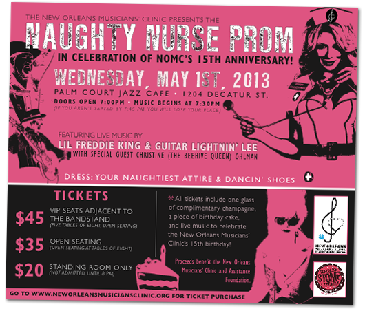 Naughty Nurse Prom - Flyer